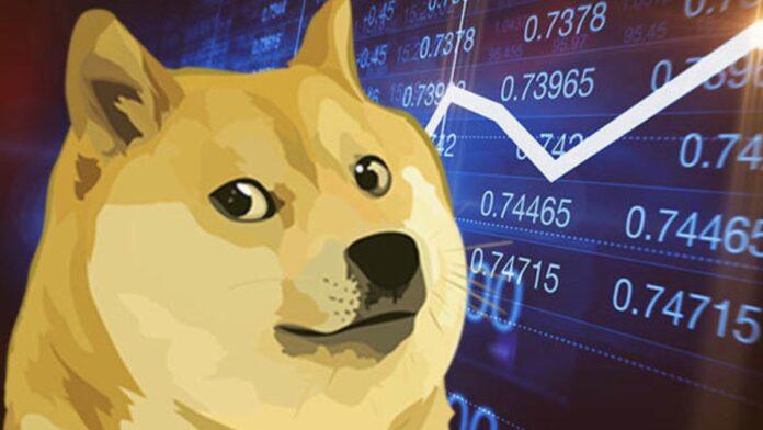 Dogecoin se unió a la tendencia alcista de las criptomonedas con un aumento del 95% en dos días