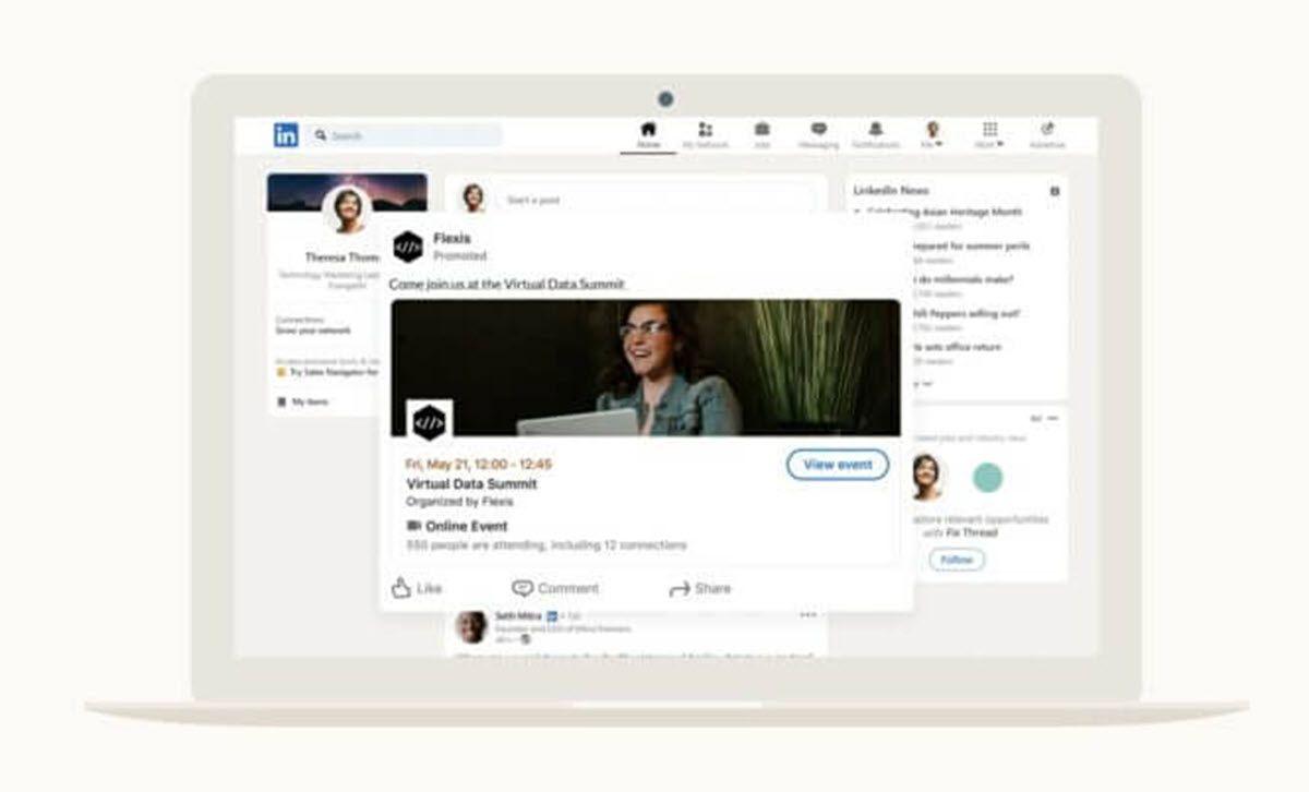 LinkedIn agrega nuevas opciones para promover eventos en línea
