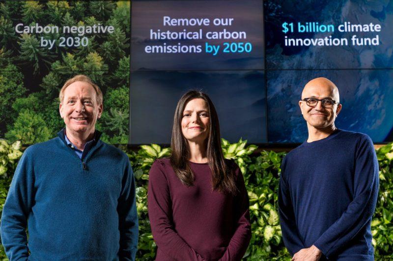 Microsoft lanzó una iniciativa climática de $ 1 mil millones para ser carbono negativo para 2030